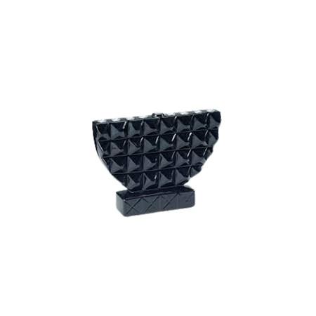 Chanukiá de cerâmica preta geométrica