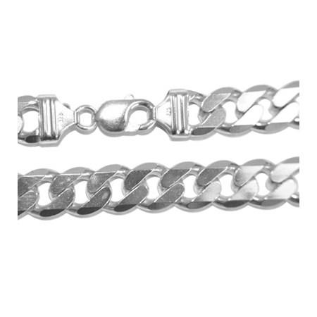 Corrente de prata Italiana grossa Grumet (60 cm.)