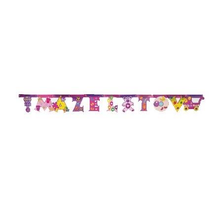 Banner Mazel Tov brilhante menina