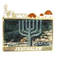 Imã metal menorá Knesset Jerusalém