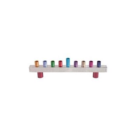 Chanukiá de alumínio multicolor (EMANUEL)