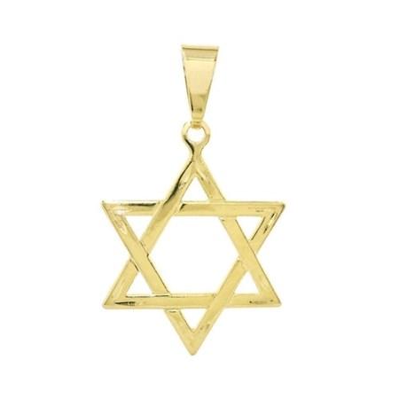 Pingente dourada estrela de David - grande