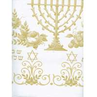 Toalha de plástico grosso com motivos judaicos - Tamanho 1,32x1,78 m.