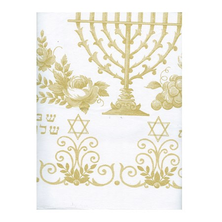 Toalha de plástico grosso com motivos judaicos - Tamanho 1,37 x 1,37 m.