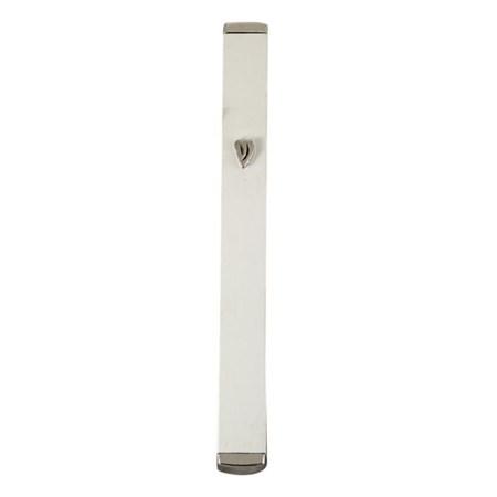 Mezuzá tubular Shin relevo (Alumínio) - Branca