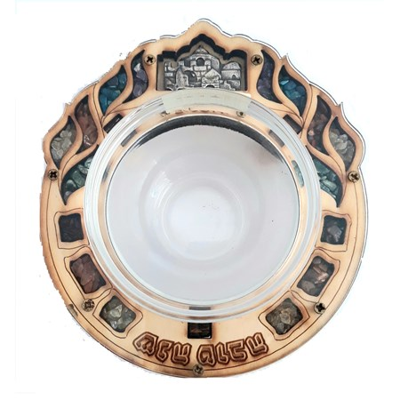 Meleira romã madeira e vidro - Jerusalém