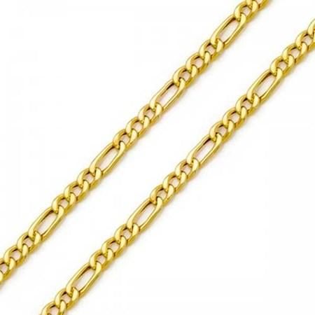 Corrente grossa Groumet 3x1 - Dourada