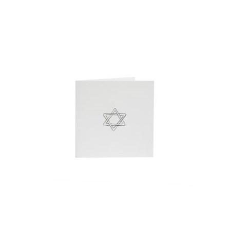 Cartão Luxo - Estrela de David - Branco