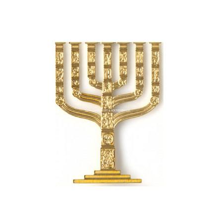 Miniatura da menorá Knesset - Dourada