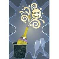 Cartão Mazal tov champagne