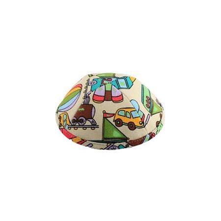 kipá de algodão bege infantil colorida