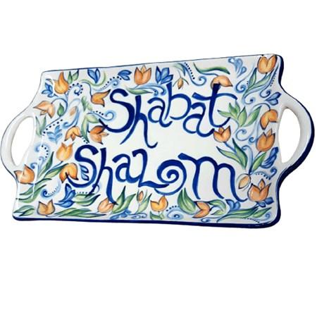 Bandeja de cerâmica para Shabat