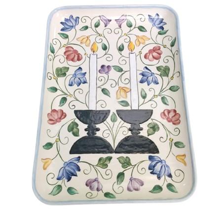 Tábua para chalá de cerâmica pintada