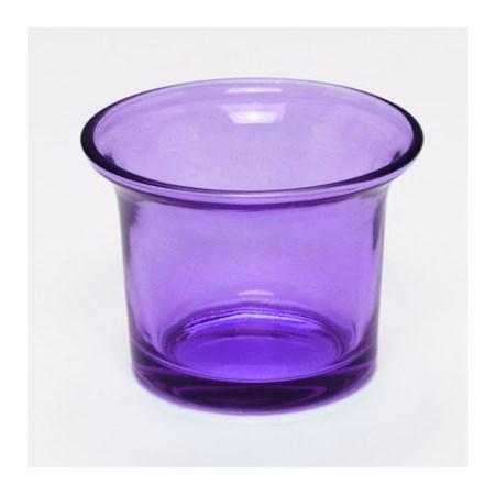 Copinho  de vidro colorido  para vela  - Azul