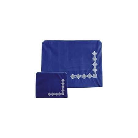Conjunto Capas deTalit e Tefilin Veludo Azul