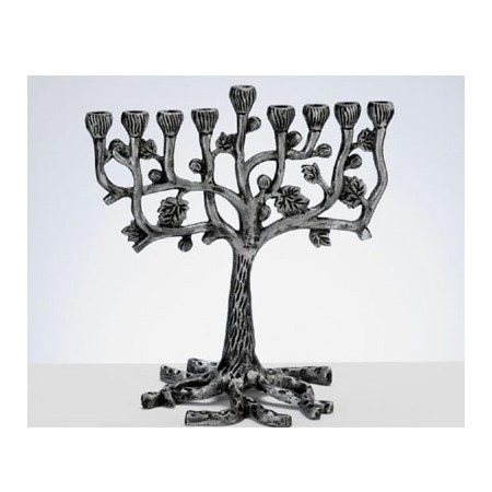 Chanukiá de alumínio Árvore da Vida