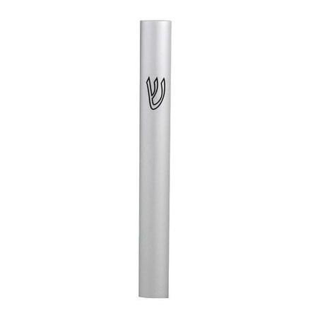 Mezuzá de alumínio lisa 10 cm