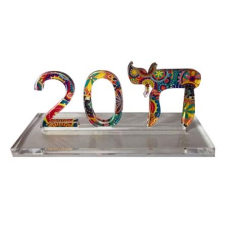 Escultura acrilico Chai-2018 - Colorida