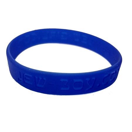 Pulseira azul de silicone