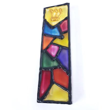 Mezuzá de acrílico Vitral - Colorida