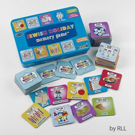 Jewish holiday memory game em lata