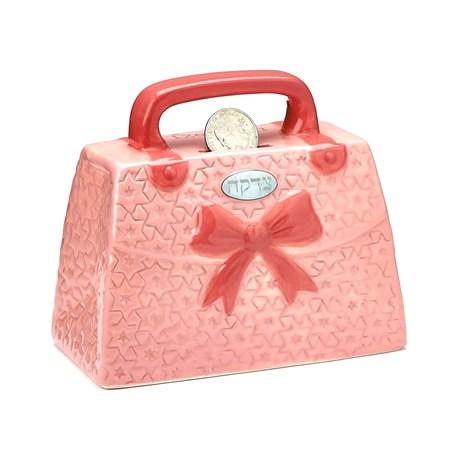 Tsedacá Cerâmica de Bolsa Rosa