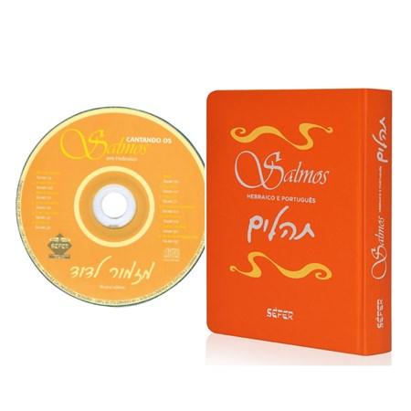 Salmos - Hebraico e Português (Capa Flexível Laranja) com CD Cantando Salmos em Hebraico