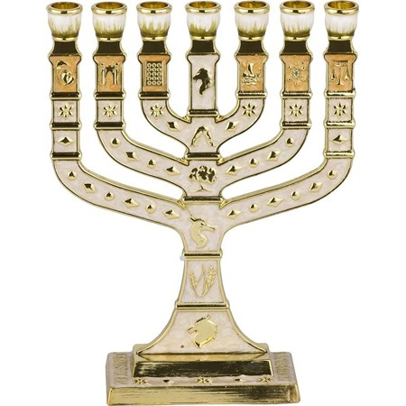 Menorá Knesset esmaltada
