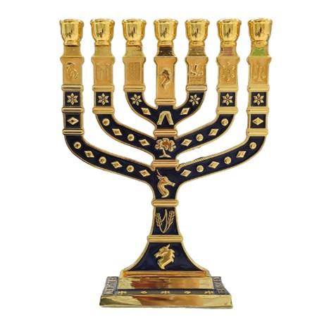 Menorá Knesset grande esmaltada