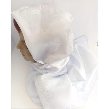 Lenço branco de cetim