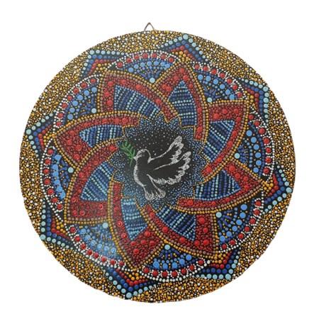 Mandala colorida média  - Pomba da Paz