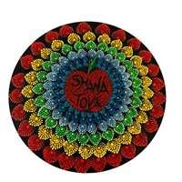 Mandala colorida média  - Shaná Tová com maçã
