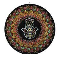 Mandala colorida média - Hamsa grande