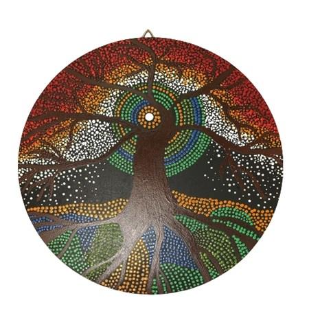Mandala colorida pequena - Árvore da vida