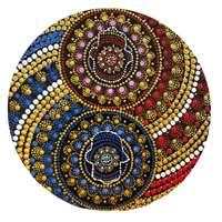 Mandala colorida pequena - 2 Hamsas