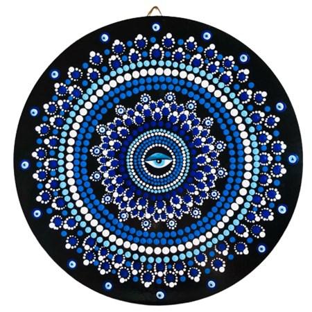 Mandala colorida grande - Olho Grego