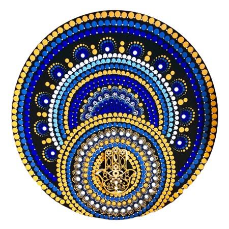 Mandala colorida grande - Hamsa