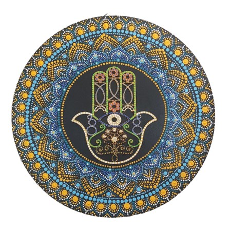 Mandala colorida grande  - Hamsa grande
