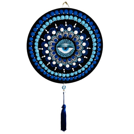 Mini Mandala olho grego - Azul