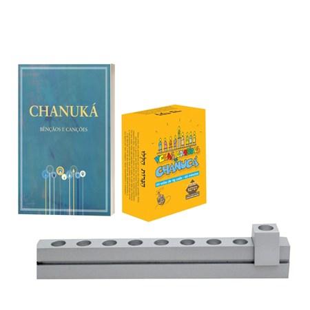 Chanukiá + Velas + Bênçãos e Canções
