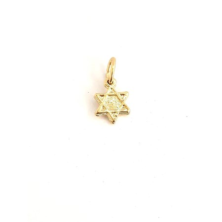 Pingente mini Estrela de David - Dourado