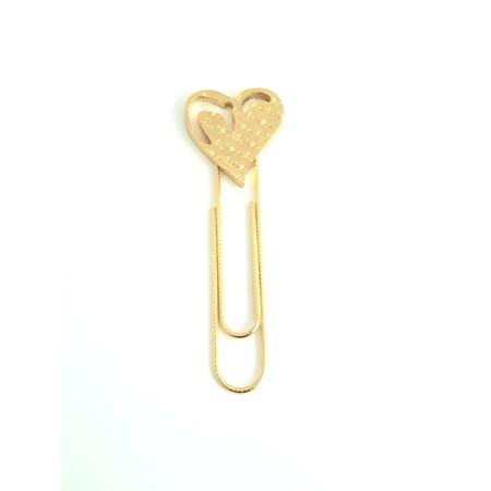 Marcador de Páginas coração - Dourado