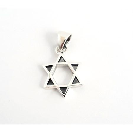 Pingente Estrela de David de prata pequena