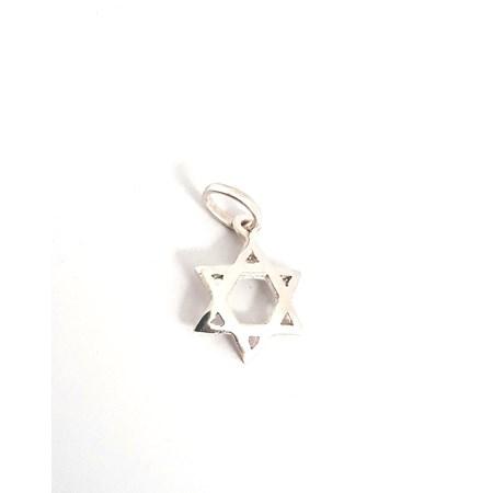 Pingente Estrela de David de prata Oval