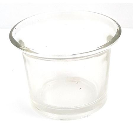 Copinho  de vidro colorido  para vela - Transparente