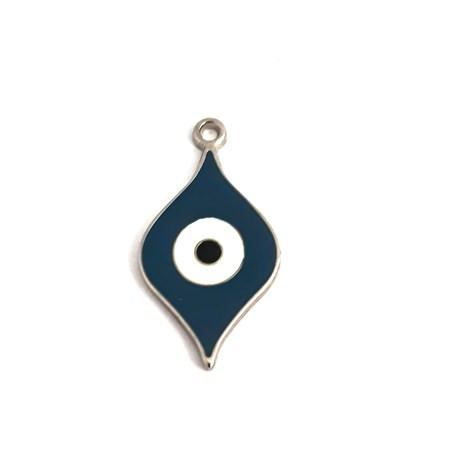 pingente olho grego esmaltado azul