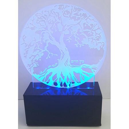 Luminária Árvore da vida - Led Azul