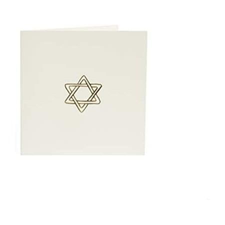 Cartão Luxo - Estrela de David - Bege