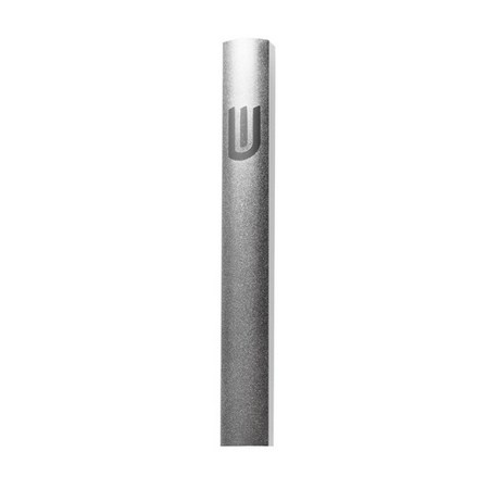 Mezuzá tubular cinza-fosca (alumínio)