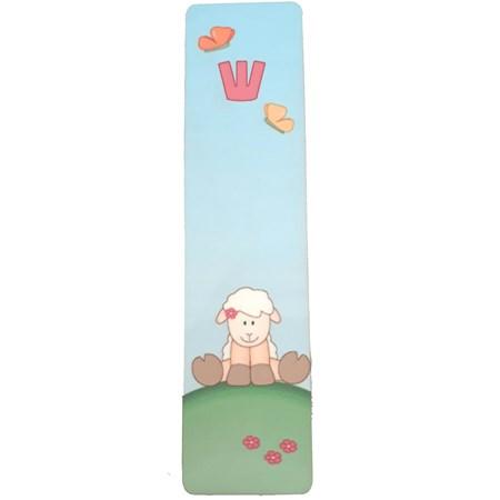 Mezuzá infantil ovelhinha (madeira)